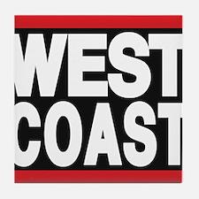 west coast red Tile Coaster