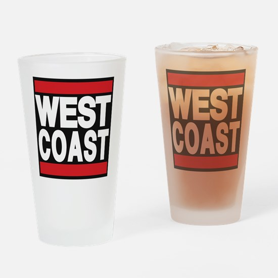 west coast red Drinking Glass