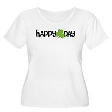 Happy Shamrock Day Plus Size T-Shirt