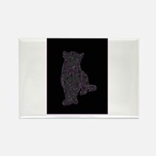 Purple Spots on Black Panther Rectangle Magnet (10
