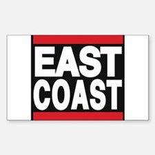 east coast red Decal