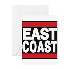 east coast red Greeting Card