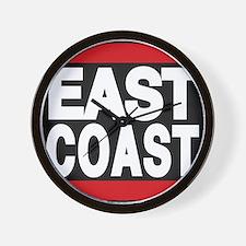 east coast red Wall Clock
