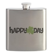 Happy Shamrock Day Flask