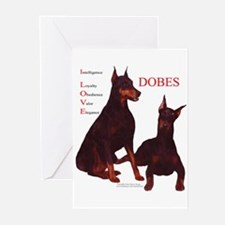 Love Dobes Greeting Cards (Pk of 10)