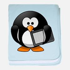 Modern Penguin baby blanket