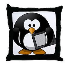 Modern Penguin Throw Pillow