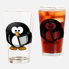 Modern Penguin Drinking Glass