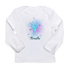 Breathe Yoga Pose Long Sleeve Infant T-Shirt