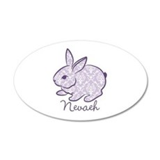 Purple chic bunny Wall Decal