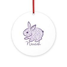 Purple chic bunny Ornament (Round)