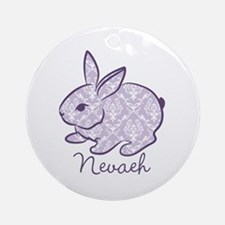 Purple chic bunny Ornament (Round)