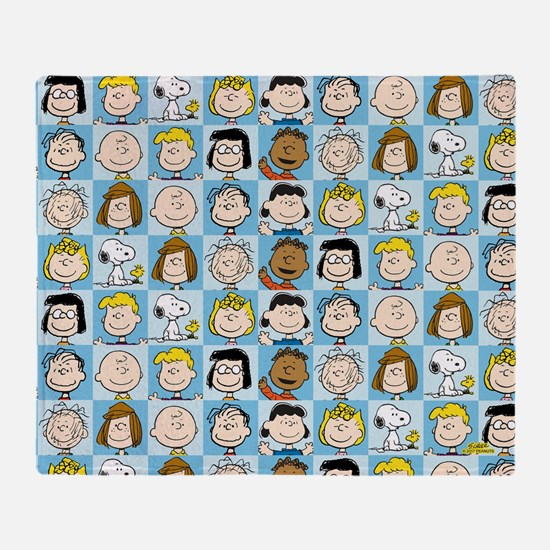 Peanuts Back to School Pattern Throw Blanket