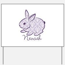 Purple chic bunny Yard Sign