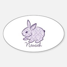 Purple chic bunny Decal