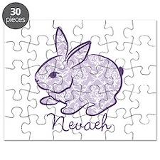 Purple chic bunny Puzzle