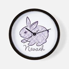 Purple chic bunny Wall Clock