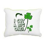 I Cut a BIG one! Rectangular Canvas Pillow