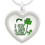 I Cut a BIG one! Silver Heart Necklace