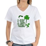 I Cut a BIG one! Women's V-Neck T-Shirt