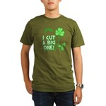 I Cut a BIG one! Organic Men's T-Shirt (dark)