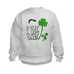 I Cut a BIG one! Kids Sweatshirt