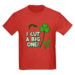 I Cut a BIG one! Kids Dark T-Shirt