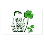 I Cut a BIG one! Sticker (Rectangle 10 pk)