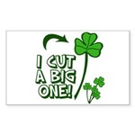 I Cut a BIG one! Sticker (Rectangle 50 pk)