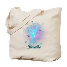 Breathe Yoga Pose Tote Bag
