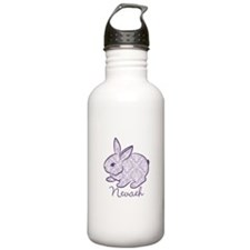 Purple chic bunny Water Bottle