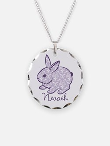 Purple chic bunny Necklace
