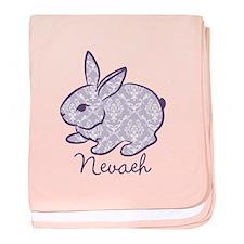 Purple chic bunny baby blanket