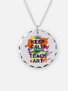 Keep Calm Teach Art Necklace