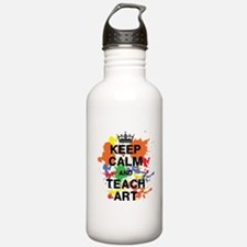 Keep Calm Teach Art Water Bottle