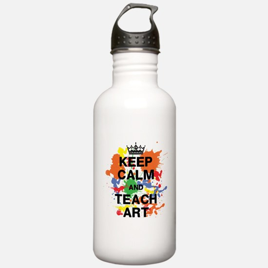 Keep Calm Teach Art Water Bottle