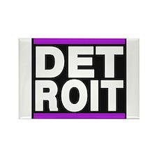detroit purple Rectangle Magnet