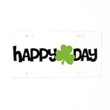 Happy Shamrock Day Aluminum License Plate