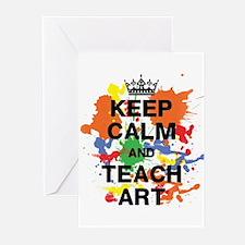 Keep Calm Teach Art Greeting Cards (Pk of 10)