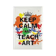 Keep Calm Teach Art Rectangle Magnet