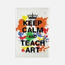 Keep Calm Teach Art Rectangle Magnet