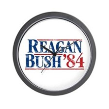 Distressed Reagan - Bush '84 Wall Clock