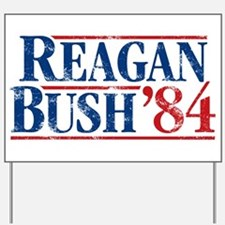 Distressed Reagan - Bush '84 Yard Sign