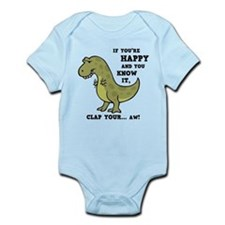 T-Rex Clap II Infant Bodysuit