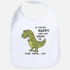 T-Rex Clap II Bib