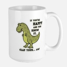 T-Rex Clap II Large Mug