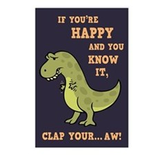 T-Rex Clap II Postcards (Package of 8)