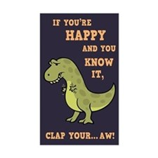 T-Rex Clap II Bumper Stickers
