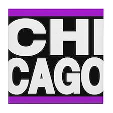 chicago purple Tile Coaster