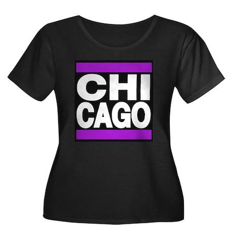 chicago purple Plus Size T-Shirt
